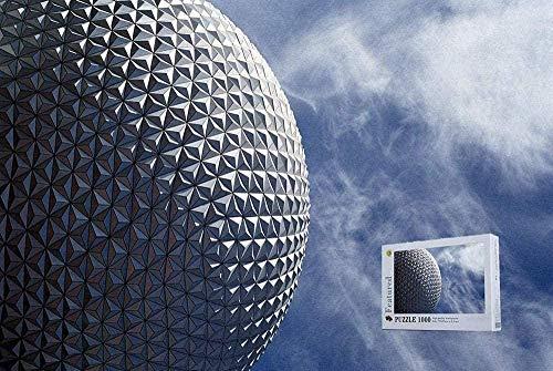 Puzzlespiel Jigsaw Puzzle,Holzpuzzle 1000-Teilige Golfball-Struktur Bei Epcot Orlando Florida Puzzles 1000-Teilige Holzpuzzles - Bereit, EIN Kunstwerk Zu Sein 50X75Cm,Impossible Puzzle