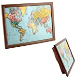 The Leonardo Collection World Traveler Map of the TV Dinner Lap Tray, Multicolor