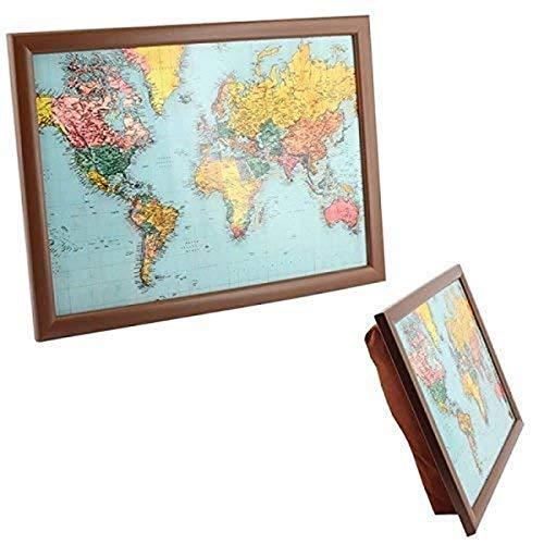 The Leonardo Collection World Traveler Map of the TV Dinner Lap Tray,...
