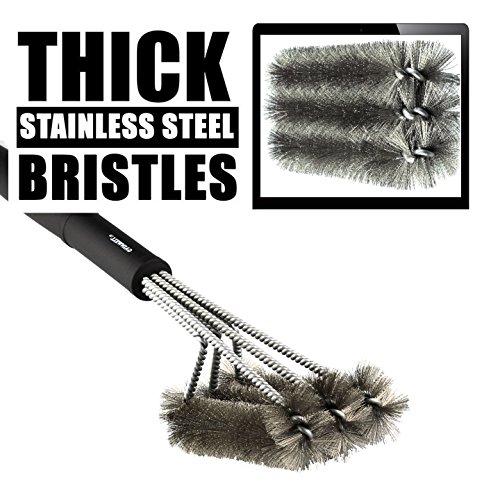GAINWELL BBQ GRILL BRUSH - Stainless Steel
