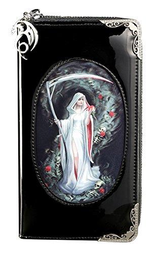 Gothic Geldbörse mit 3D Motiv groß | Life Blood by Anne Stokes | Damen Fantasy Geldbeutel Portemonnaie Lack Reaper