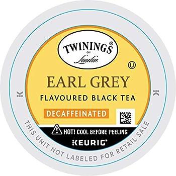 Twinings of London Decaffeinated Earl Grey Tea K-Cups for Keurig 24 Count  Pack of 1