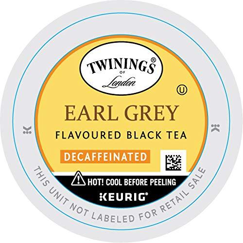 Twinings of London Decaffeinated Earl Grey Tea K-Cups for Keurig, 24 Count (Pack of 1)
