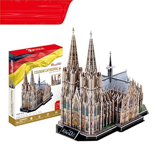 YYF 3D dreidimensionale Puzzle Kölner Dom 8-12 Jahre Kindererziehungs Zauber Einsatz Spielzeug DIY Papiermodell