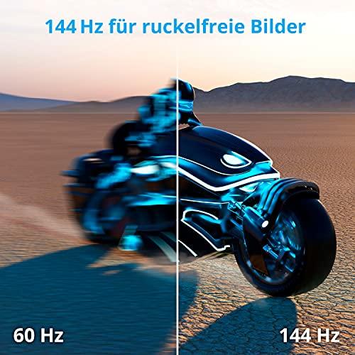 MEDION ERAZER X52471 59,8 cm (23,6 Zoll) Full HD Widescreen Curved Gaming Monitor (144Hz, 1080p, 16:9, 1ms, HDMI, Display Port, DVI-D)