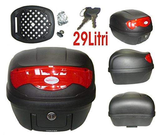 A-pro Universele motorfiets, motorfiets, scooter achteraan, luggage, topkoffer, topbox, 29 liter, zwart