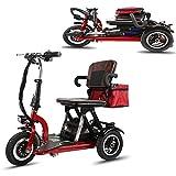 anking Mini Scooter Eléctrico Plegable Portátil para Adultos/Ancianos Viajes De Placer Scooter Eléctrico Plegable De Litio De La Batería del Triciclo, Carga 150 Kg, Cuerpo De Aleación De Aluminio