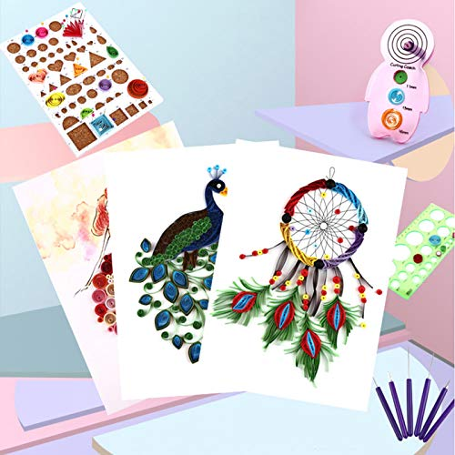 Quilling Paper Art Set, Quilling de papel liso, Decoración de empaquetado para tarjetas Pintura decorativa