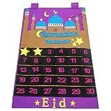 Eid Mubarak Filzkalender Ramadan Countdown Kalender Mit Zuckertaschen Für Kinderzahlen Ramadan Party