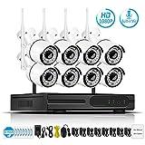Kit de videovigilancia de audio y video de 2 MP inalámbrico, sistema de cámara de seguridad CCTV Set H.265 WiFi HD Cámara IP IP66
