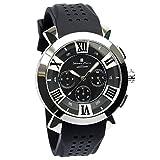 [サルバトーレマーラ]Salvatore Marra 腕時計 ウォッチ イタリアブランド 立体インデックス SM14102 (ブラック)