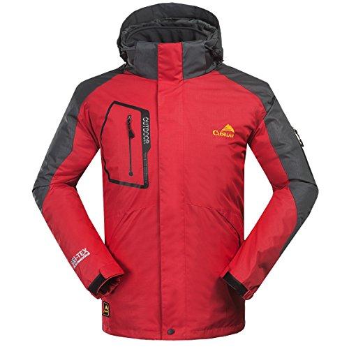 CIKRILAN męska 3w1 wiatroszczelna wodoodporna oddychająca funkcjonalna kurtka sportowa na zewnątrz na kemping wspinaczka piesze wycieczki