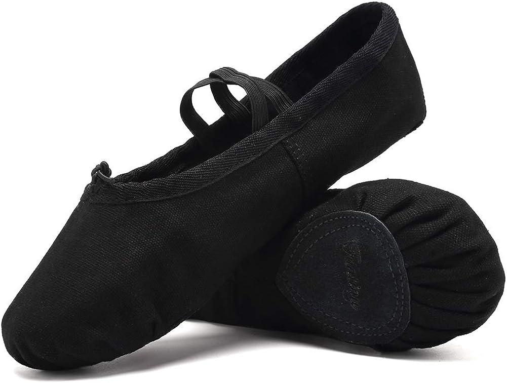 Ballet Shoes Ballet Slippers Girls Ballet Flats Canvas Dance Shoes Yoga Shoes(Toddler/Little Kid/Big Kid/Women/Boy)
