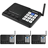 Wireless Intercom System for Home,Sanzuco Wireless Intercom System 1 Mile Range for Office, 10 Channel 3 Private Code Room to Room Intercom (4 Packs)