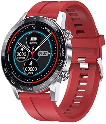 DHTOMC Reloj inteligente multifuncional de los deportes de Bluetooth 1.3 pulgadas HD pantalla de color pulsera inteligente desgaste diario rojo