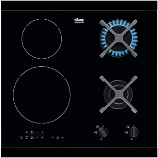 Plaque mixte Faure FGN68468BA - Plaque de cuisson 4 foyers / 2 boosters