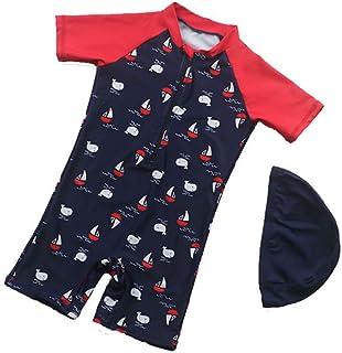 男の子の水着 シャム 日焼け止め 速乾性 サーフ服 男の子の水着 水着水着 (サイズ : M)