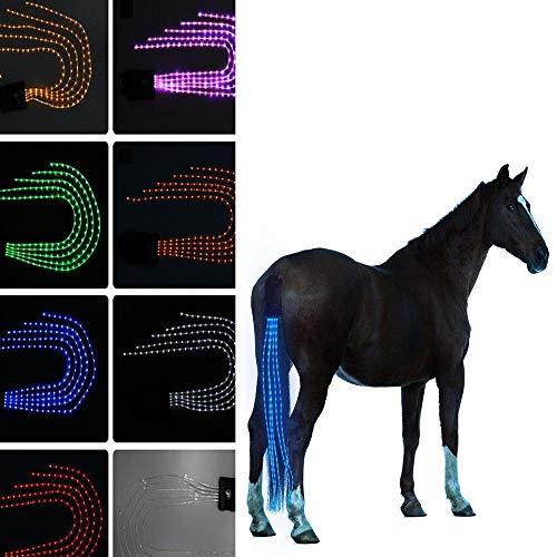WXH Luces de Cola de Caballo, USB Recargable, arnés de Caballo Ecuestre, decoración en Color, Material de Buceo, Deportes al Aire Libre Las Luces