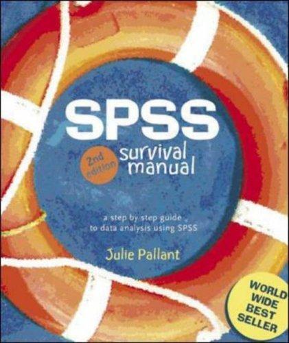 SPSS Survival Manual 2nd edition by Pallant, Julie (2004) Spiral-bound