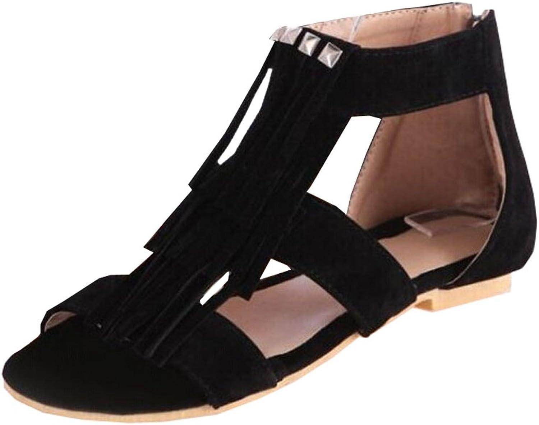 Sen Department of summer new rivets tassel comfortable women flat sandals students