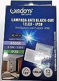 Segnapasso led da incasso luce di emergenza 2,5 w 180 lumen equivalente 15w compatibile con cassetta 503 anti black out