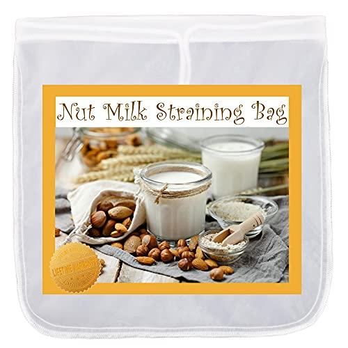 Max K Bolsa para colar leche nuez – Bolsa de 50 micras con cordón – Malla de nailon fino sin BPA – Repele el agua y la putrefacción – Fácil de limpiar y de secado rápido – para almendras, zumos, cerveza fría, queso, yogur