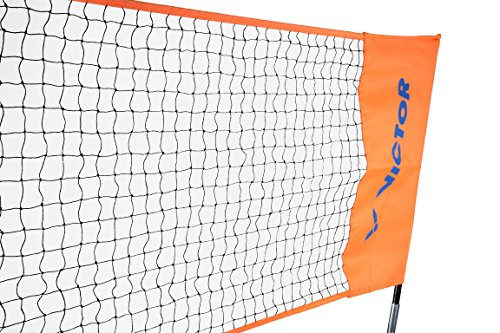 Victor Easy Net - Badminton & Tennis - 3.5m Wide with Adjustable Height - Blue