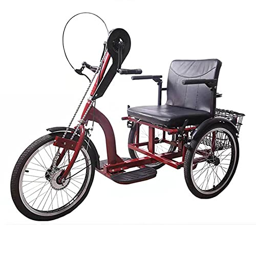 Triciclo para Adultos Bicicleta Diseño Tradicional del Triciclo De La Mano del Triciclo para Las Personas Mayores Deportes Al Aire Libre De Triciclo para Adultos