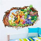 VIOYO Winnie the Pooh and friends wall stickers for kids rooms ZooYoo2006 decorative adesivo de parede removable pvc wall decal