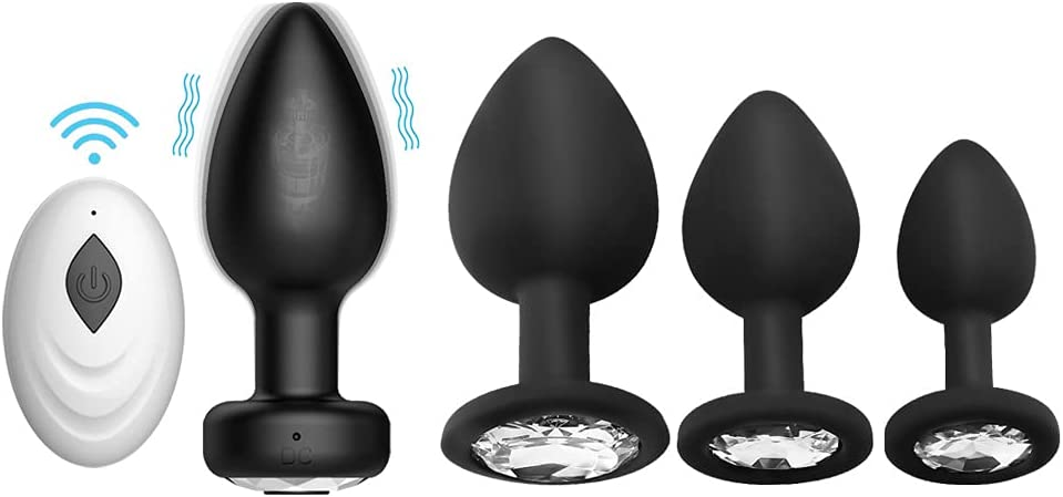 4 PCS Soft Sale Bûtt Pl'ug Automatic Online limited product Pl'ugs Silicone A'mal Yoga Play