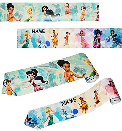 alles-meine.de GmbH 2 Stück _ Wandbordüren - selbstklebend -  Disney Fairies / Fairy - Tinkerbell  - incl. Name - je 5 m - Wandsticker / Wandtattoo - Bordüre Aufkleber Kinderzi..