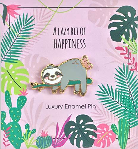 Faultier Pin - Don´t Hurry, Be Happy | Faultier Geschenke | Faultier Sachen | Geschenk