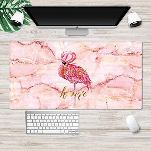 Mausunterlage Mausunterlage übergroße Tischmatte Spiel Mausunterlage rosa Marmor Flamingo 300 * 800MM 2MM