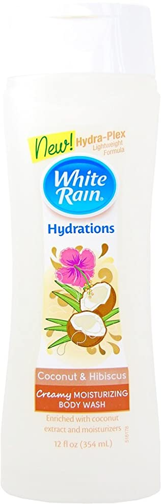 捨てる確立しますぼんやりしたWhite Rain(ホワイトレイン) Body Wash(ボディウォッシュ) クリーミーココナッツ&ハイビスカス