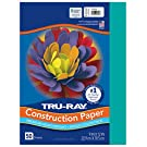 "Tru-Ray Heavyweight Construction Paper, Turquoise, 9"" x 12"", 50 Sheets"