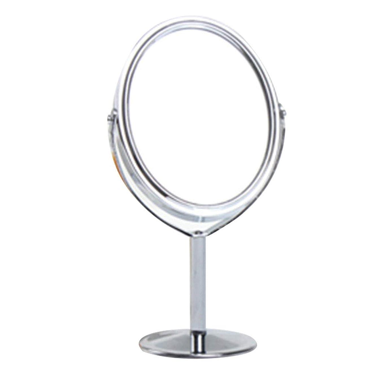 会う仮定、想定。推測九時四十五分828トン韓国メタルミラー化粧鏡化粧台ミラーデスクトップ回転ミラー1:2倍率機能化粧鏡 - シルバー