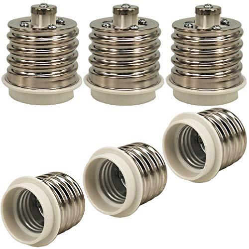 ZDCDJ 6 adaptadores de casquillo E40 a E27 para bombillas LED, halógenas,...