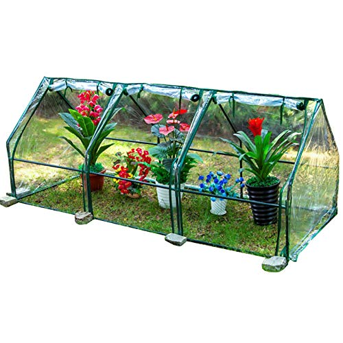 LXLA Waterproof Clear Mini Greenhouse, Portable Reinforced Green Hot House with Roll-up Zipper Window, for Young Plant Flower Vegetable (Size : L 240cm×90cm×90cm)