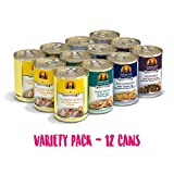 Weruva Classic Dog Food, Variety Pack, Baron's Batch, Wet Dog Food, 14oz Cans (Pack of 12)