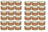 V1 Trade - SOLVENT Lot de 36 rouleaux de ruban adhésif d'emballage Marron 48 mm x 66 m