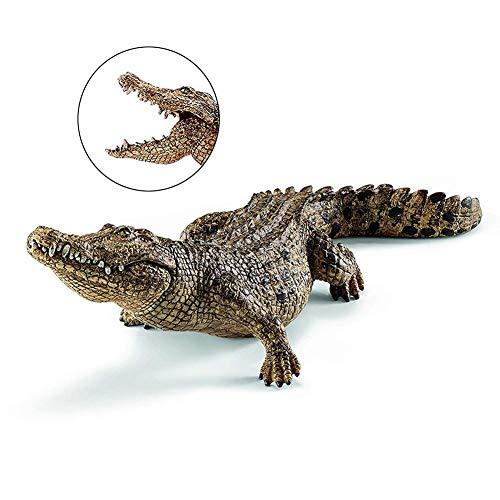 Lancei Krokodil Figur 7.2inch Krokodil Figur Pädagogische Kreaturen Tier Action Figure Spielzeug