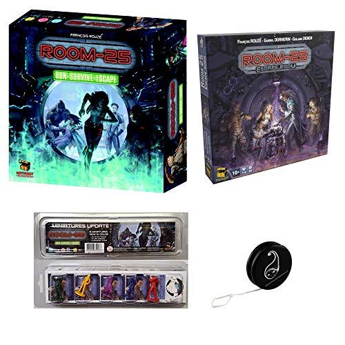 Pack Room 25 (2° edición) + extensión Escape Room+ Pack Update de 6 minifiguras + 1 Yoyo Blumie