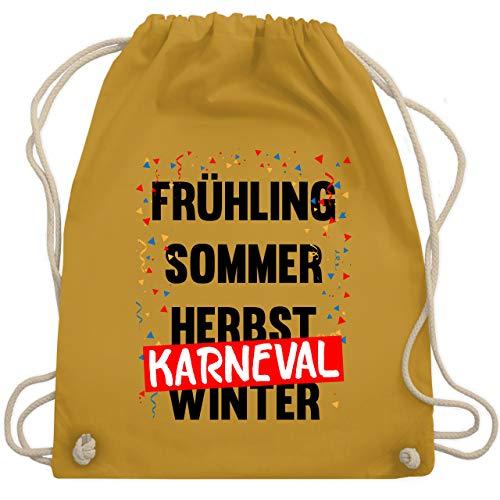 Shirtracer Karneval & Fasching - Frühling, Sommer, Herbst, Karneval, Winter - Karneval Kostüm - Unisize - Senfgelb - turnbeutel senfgelb - WM110 - Turnbeutel und Stoffbeutel aus Baumwolle