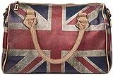styleBREAKER Union Jack Handtasche im Großbritannien Vintage Design, Bowling Tasche, Henkeltasche,...