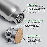 Pure Design – 1000 ml Edelstahl Trinkflasche in Geschenk Verpackung - 3