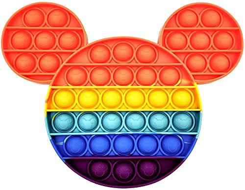 Juguete Antiestrés Sensorial de Explotar Burbujas Push Pop Bubble Fidget Toy Pop it Herramientas para aliviar el estrés y la ansiedad para niños y Adultos Mickey