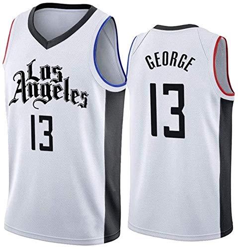 JAG City Edition Paul George 13# Jersey de Baloncesto, Uniforme de Baloncesto Los Angeles Clippers para Hombres, Ropa de Entrenamiento sin Mangas Swingman NBA Swingman, Tamaño Completo
