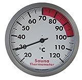 TFA Dostmann Analoges Sauna-Thermometer, hitzebeständig, hergestellt in Deutschland, silber/weiß