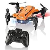 HELIFAR Mini Drone Pieghevole, H815 Remote Control Quadcopter RC Drone con Luce...