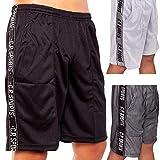Fitness Mesh Short - Farbe: schwarz oder grau Fitnesshose, Fitness Short Pant Bodybuilding Shorts XL...